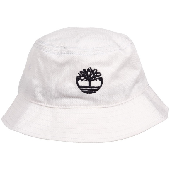 f6c07dacb5a Timberland Boot Company Bucket Hat Cap White NWT